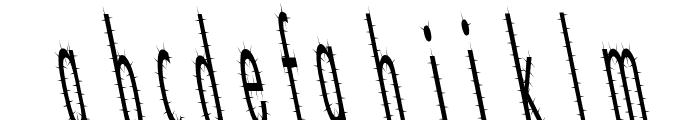 CatScratch Thin Rev Italic Font LOWERCASE