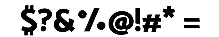 Catamaran ExtraBold Font OTHER CHARS