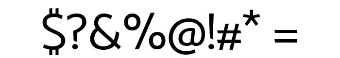 Catamaran Regular Font OTHER CHARS