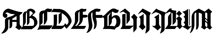 Cathedral Normal Font UPPERCASE