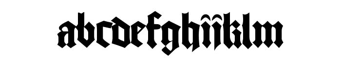 Cathedral Normal Font LOWERCASE
