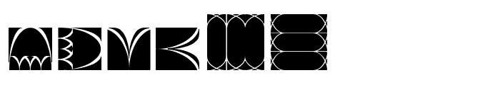 Cathy's Art Deco Dings LT Font LOWERCASE