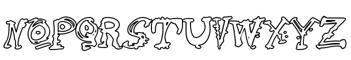 Cathzulu Hollow Font UPPERCASE