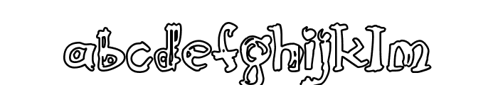 Cathzulu Hollow Font LOWERCASE