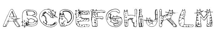 CatsAlphabet Font UPPERCASE