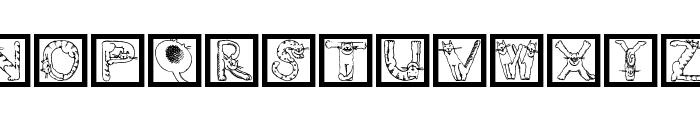 CatsAlphabet Font LOWERCASE