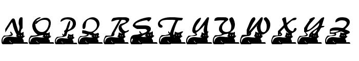 Catstuff Font UPPERCASE