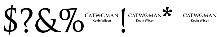 Catwoman Font OTHER CHARS