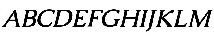 Caudex Bold Italic Font UPPERCASE