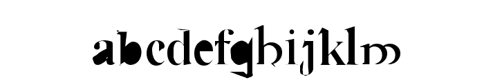 Cauldron Medium Font LOWERCASE