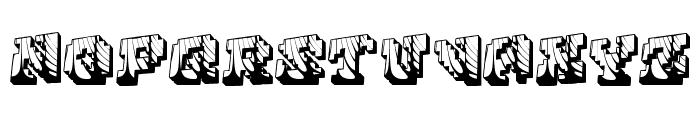 Cauterise Font UPPERCASE