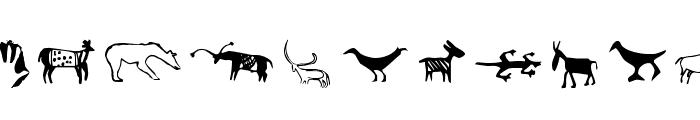 CavePaintingDingbats Font LOWERCASE