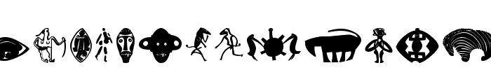 CavePeople-Painting Font LOWERCASE