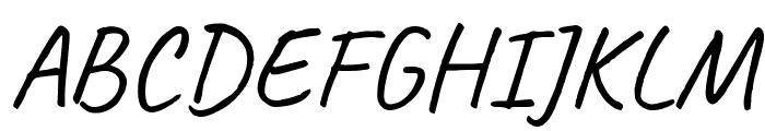 Caveat Regular Font UPPERCASE