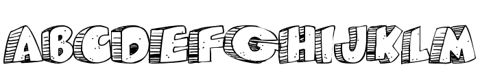 Caveman Font UPPERCASE