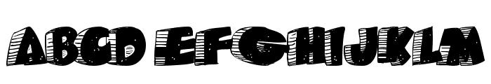 Caveman Font LOWERCASE