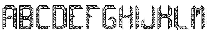 cadabra DEBILEX Font UPPERCASE