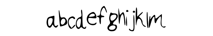 california Font LOWERCASE