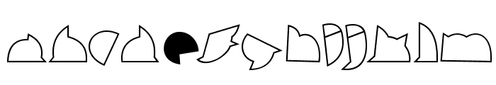 callejera filete filete Font LOWERCASE
