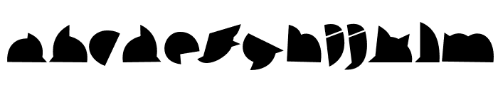 callejera negra negra Font LOWERCASE