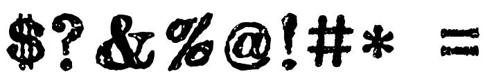 carbondale eval Font OTHER CHARS