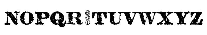 carbondale eval Font UPPERCASE