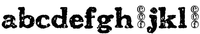 carbondale eval Font LOWERCASE