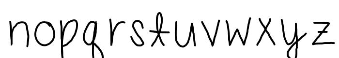 carlys handwriting Font LOWERCASE