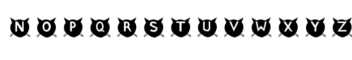 cats-MEOW Font UPPERCASE