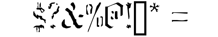 caustic monk Normal Font OTHER CHARS