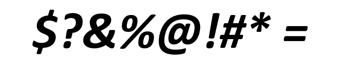 Calibri Bold Italic Font OTHER CHARS