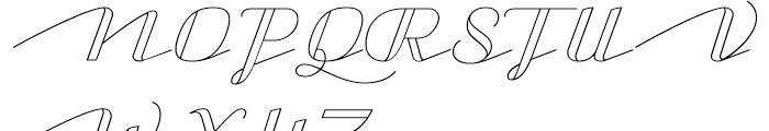 CA Capoli Stroke Font UPPERCASE
