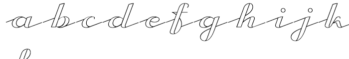 CA Capoli Stroke Font LOWERCASE