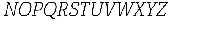 Cabrito Condensed Book Italic Font UPPERCASE