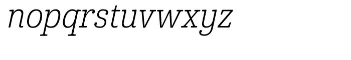 Cabrito Condensed Book Italic Font LOWERCASE