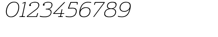 Cabrito Expanded Thin Italic Font OTHER CHARS