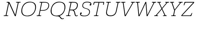 Cabrito Expanded Thin Italic Font UPPERCASE