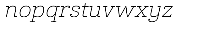 Cabrito Expanded Thin Italic Font LOWERCASE