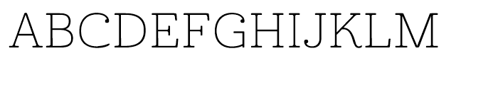 Cabrito Expanded Thin Font UPPERCASE