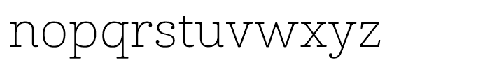 Cabrito Expanded Thin Font LOWERCASE