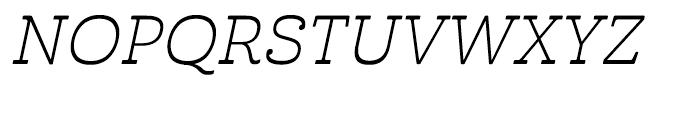 Cabrito Inverto Extended Book Italic Font UPPERCASE