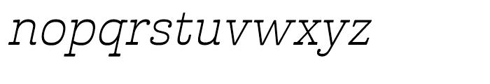 Cabrito Inverto Extended Book Italic Font LOWERCASE