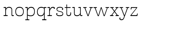 Cabrito Inverto Extended Light Font LOWERCASE