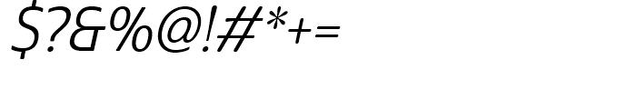 Cabrito Sans Condensed Regular Italic Font OTHER CHARS