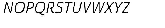 Cabrito Sans Condensed Regular Italic Font UPPERCASE