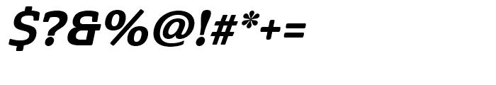 Cabrito Semi Cond ExtraBold Italic Font OTHER CHARS