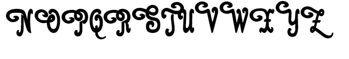 Cacao Plain Swashes Font UPPERCASE