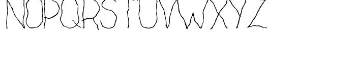 Cack-handed Regular Font UPPERCASE