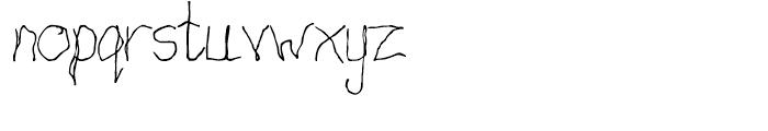 Cack-handed Regular Font LOWERCASE