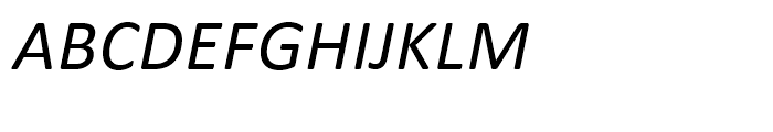 Calibri Italic Font UPPERCASE